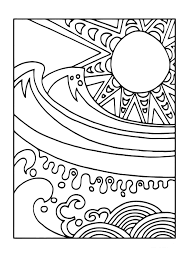 coloring page sun and sea img 11440