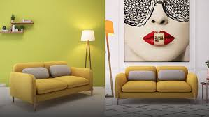 Modern Yellow Sofa Yellow Leather Sectional Sofa Set Yellow Leather Sectional Sofa