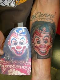 myers clown mask tattoo