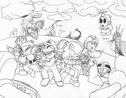 mario and sonic coloring pages sonic the hedgehog coloring pages