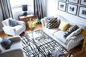 Black And White Living Room Rug Before And After Neutral Colors And Playful Patterns Revamped