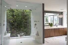 Flush Ceiling Shower Head by Astonishing Floating Bench Bathroom Contemporary With Rain Shower