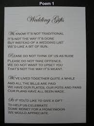 wedding gift no registry best 25 wedding gift poem ideas on honeymoon fund