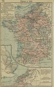 A Map Of France by Map Of France In 1328
