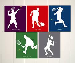 tennis boys wall art sports player zoom
