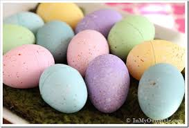 painted easter eggs chalk painted speckled easter eggs in my own style