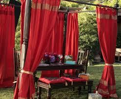 Sari Fabric Curtains Silk Curtains
