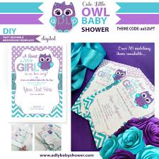 purple and grey baby shower invitations personalized purple and teal owl baby shower invitation with