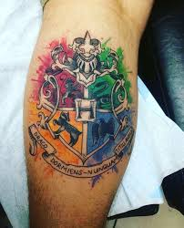 x posted from r tattoos hogwarts crest i got yesterday harrypotter