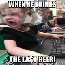 Angry Girl Meme - when he drinks the last beer angry gamer girl meme generator