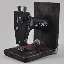 singer sewing machine book ends u2013 prezents