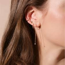 cuff earrings ear cuff and strand