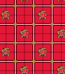 Upholstery Fabric Maryland University Of Maryland Terrapins Flannel Fabric 42