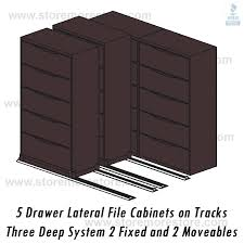 Lateral Filing Cabinet Rails 2 1 1 Moving Lateral Filing Cabinets On Rails 42 Wide File