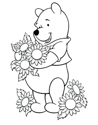 Sunflowers Coloring Pages Sunny The Sunflower Coloring Pages Sunflower Coloring Page