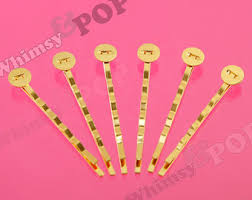 wide bobby pins bobby pins with pad etsy