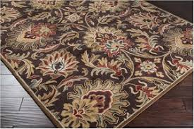 Chocolate Brown Area Rugs Caesar Cae 1028 Chocolate Golden Brown Area Rug