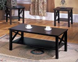 cocktail tables and end tables t84 series 3 pc cherry wood x style casual coffee table 2 end