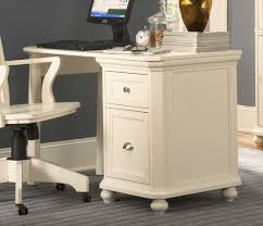White Wood File Cabinets by Small Desk With Filing Cabinet Roselawnlutheran