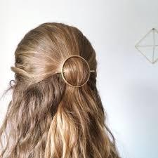 hair slide minimalist gold hair accessories brass hair clip
