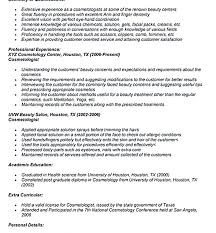 cosmetologist resume template cosmetologist resume entry for template cover letter cosmetology