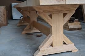 woodwork x leg dining table plans pdf plans home decorating
