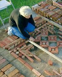 Make Your Own Outdoor Rug Brick Garden Rugs With Margaret Bricks Martha Stewart And