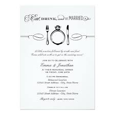 eat drink and be married invitations dinner invite eat drink and be married invitation card