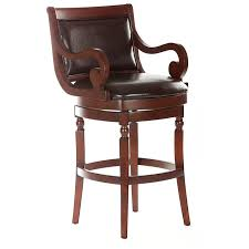 Wood Swivel Bar Stool Furniture Inspiring Swivel Bar Stools With Backs And Arms For