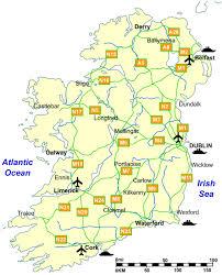 map of the road road map of ireland irishtourist