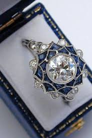 vintage sapphire engagement rings trulagreen com