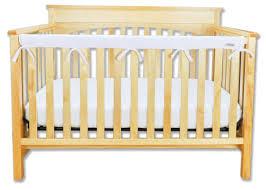 amazon com trend lab fleece cribwrap rail cover for long rail