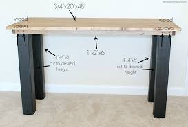 Diy Modern Desk Diy Rustic Modern Desk For 55 Katelyn Chantel