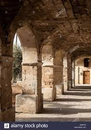 Arcaid Images Stock Photography Architecture by Cloistered Arcade To St Nicholas Monastery Spanzia Chania Old