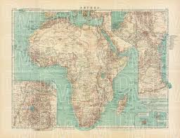 africa map high resolution map of africa in 1910 buy vintage map replica poster print or