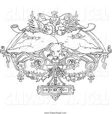 royalty free stock angel designs of coloring pages