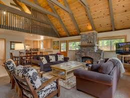 Open Floor Plan With Loft by Adorable Cabin With Large Private Deck Vau Vrbo