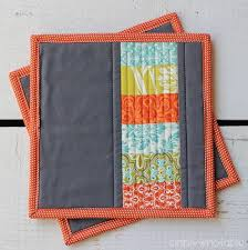 free patterns quilted potholders modern quilted potholder allfreesewing com