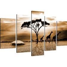 wandbilder 3 teilig bilder savanne in afrika bild auf leinwand giraffen wandbild