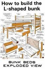 Make L Shaped Bunk Beds Built In Bunk Bed Design For 2 Bunks With Dimensions Design