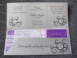 ticket wedding invitations purple coral silver swirl baseball ticket wedding invitations