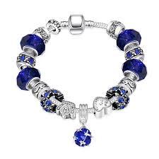 themed bracelets qiamni diy jewelry themed bead heart murano glass dangle