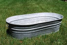 10 easy pieces galvanized trough planters gardenista galvanized