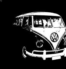 hippie van drawing van drawing