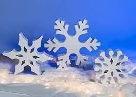 Blue Snowflakes Decorations Standing Snowflakes Shindigz