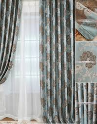 Turquoise And Brown Curtains And Brown Curtains Made Of Polyester Fabric