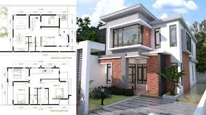 modern home plan sketchup modern home plan size 8x12m with 3 bedroom