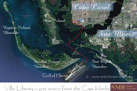 Map Of Cape Coral Florida by Villa Liberty U2013 Nmb Florida Vacation Rentals