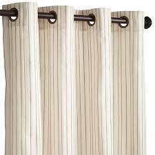 jute striped ivory grommet curtain pier 1 imports