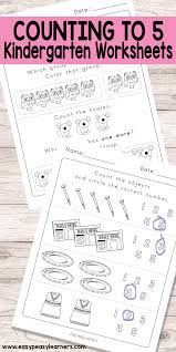 counting to 5 worksheets for kindergarten easy peasy learners